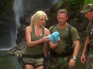 Stormy Daniels Gets Double Teamed By Two Soldiers